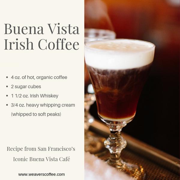 оригинальный рецепт ирландского кофе в Буэно виста