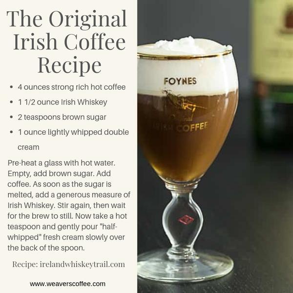 оригинальный рецепт ирландского кофе по Джо Шеридануу