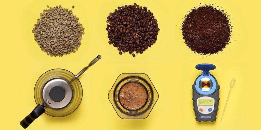 кофе разного помола и набор