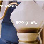 долив трети воды