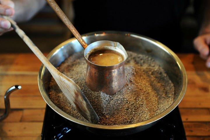 кофе на песке