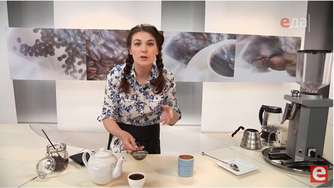 фильтрование кофе через сетку