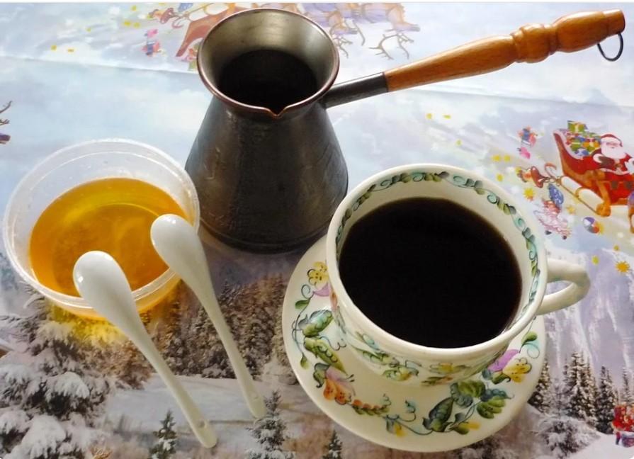 кофе с медом в турке