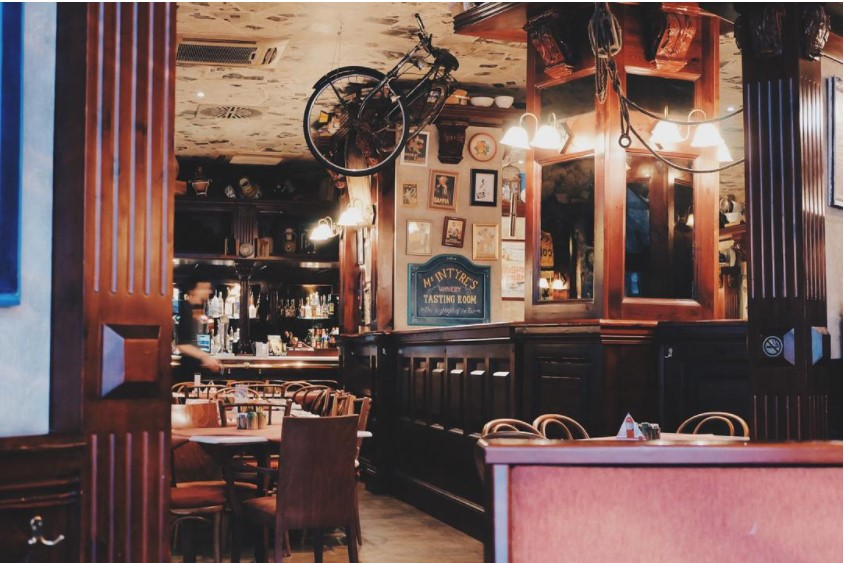 кофейня в ретро стиле