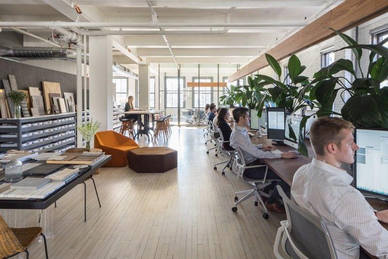 Технологичный офис с кофейней